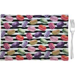 Macarons Glass Rectangular Appetizer / Dessert Plate - Single or Set (Personalized)