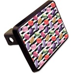 """Macarons Rectangular Trailer Hitch Cover - 2"""" (Personalized)"""