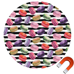 Macarons Round Car Magnet (Personalized)