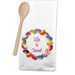 Macarons Waffle Weave Kitchen Towel (Personalized)
