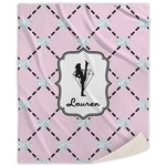 Diamond Dancers Sherpa Throw Blanket (Personalized)