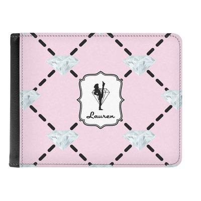 Diamond Dancers Genuine Leather Men's Bi-fold Wallet (Personalized)