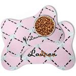 Diamond Dancers Bone Shaped Dog Food Mat (Personalized)
