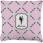 Diamond Dancers Faux-Linen Throw Pillow (Personalized)