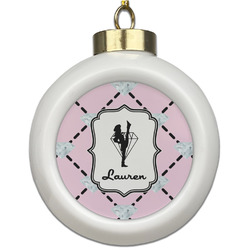 Diamond Dancers Ceramic Ball Ornament (Personalized)