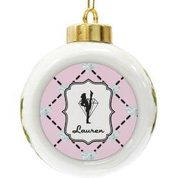 Diamond Dancers Ceramic Ball Ornament (Personalized)