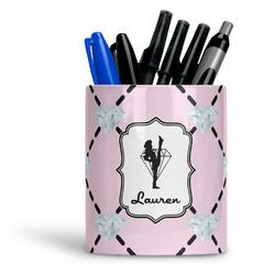 Diamond Dancers Ceramic Pen Holder