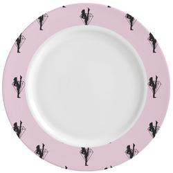 Diamond Dancers Ceramic Dinner Plates (Set of 4) (Personalized)