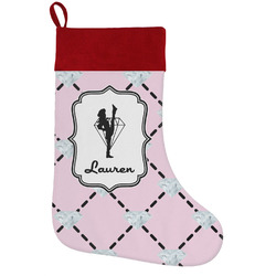 Diamond Dancers Holiday Stocking w/ Name or Text