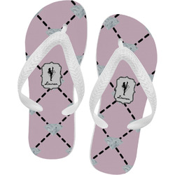 Diamond Dancers Flip Flops - XSmall (Personalized)
