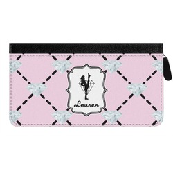 Diamond Dancers Genuine Leather Ladies Zippered Wallet (Personalized)