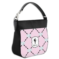 Diamond Dancers Hobo Purse w/ Genuine Leather Trim (Personalized)