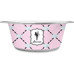 Diamond Dancers Stainless Steel Pet Bowl (Personalized)