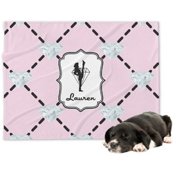 Diamond Dancers Minky Dog Blanket (Personalized)