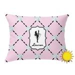 Diamond Dancers Outdoor Throw Pillow (Rectangular) (Personalized)