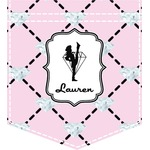 Diamond Dancers Iron On Faux Pocket (Personalized)