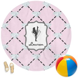 Diamond Dancers Round Beach Towel (Personalized)
