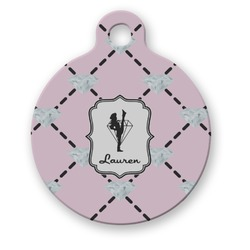 Diamond Dancers Round Pet ID Tag (Personalized)