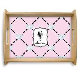 Diamond Dancers Natural Wooden Tray - Large (Personalized)