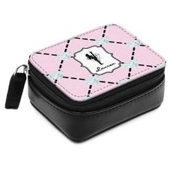 Diamond Dancers Small Leatherette Travel Pill Case (Personalized)