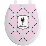 Diamond Dancers Toilet Seat Decal (Personalized)