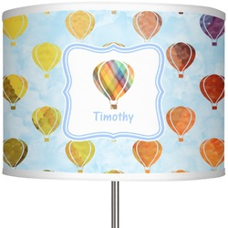 "Watercolor Hot Air Balloons 13"" Drum Lamp Shade (Personalized)"