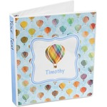 Watercolor Hot Air Balloons 3-Ring Binder (Personalized)