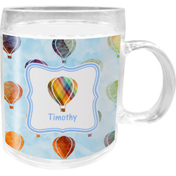 Watercolor Hot Air Balloons Acrylic Kids Mug (Personalized)