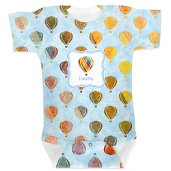 Watercolor Hot Air Balloons Baby Bodysuit (Personalized)