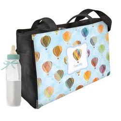 Watercolor Hot Air Balloons Diaper Bag (Personalized)