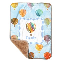 "Watercolor Hot Air Balloons Sherpa Baby Blanket 30"" x 40"" (Personalized)"