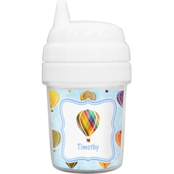 Watercolor Hot Air Balloons Baby Sippy Cup (Personalized)