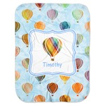 Watercolor Hot Air Balloons Baby Swaddling Blanket (Personalized)