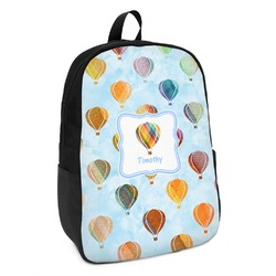 Watercolor Hot Air Balloons Kids Backpack (Personalized)