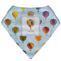Watercolor Hot Air Balloons Bandana Bib (Personalized)