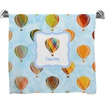 Watercolor Hot Air Balloons Full Print Bath Towel (Personalized)