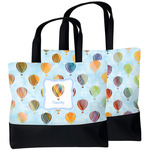 Watercolor Hot Air Balloons Beach Tote Bag (Personalized)