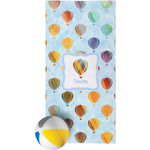 Watercolor Hot Air Balloons Beach Towel (Personalized)
