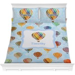 Watercolor Hot Air Balloons Comforters (Personalized)