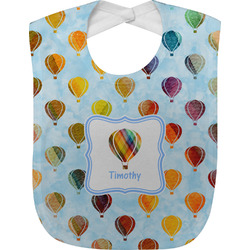 Watercolor Hot Air Balloons Baby Bib (Personalized)
