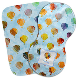 Watercolor Hot Air Balloons Burp Cloth (Personalized)