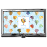 Watercolor Hot Air Balloons Business Card Case