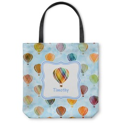 Watercolor Hot Air Balloons Canvas Tote Bag (Personalized)