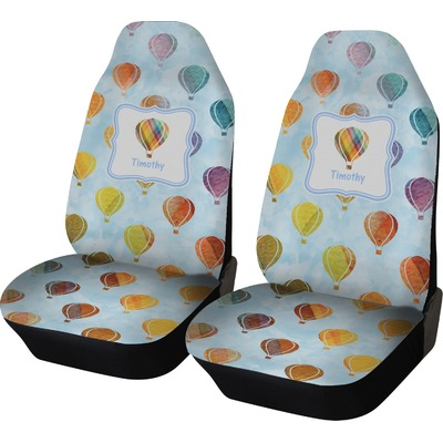 Watercolor Hot Air Balloons Car Seat Covers (Set of Two) (Personalized)