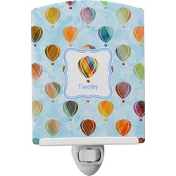 Watercolor Hot Air Balloons Ceramic Night Light (Personalized)