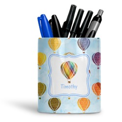 Watercolor Hot Air Balloons Ceramic Pen Holder