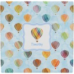 Watercolor Hot Air Balloons Ceramic Tile Hot Pad (Personalized)