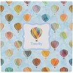 Watercolor Hot Air Balloons Ceramic Tile Hot Pad (Personalized)