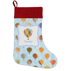 Watercolor Hot Air Balloons Holiday / Christmas Stocking (Personalized)