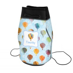Watercolor Hot Air Balloons Neoprene Drawstring Backpack (Personalized)
